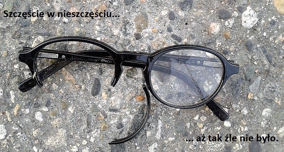 połamane okulary