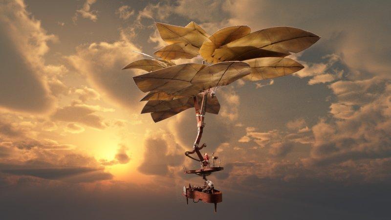 latająca maszyna