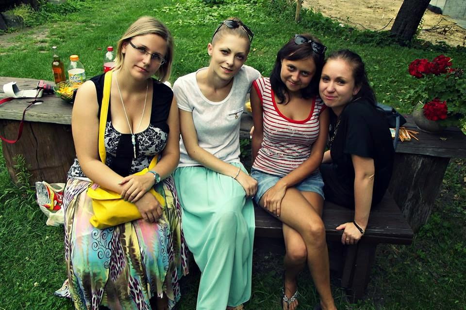 od lewej: ja, Pati, Nina i Asia
