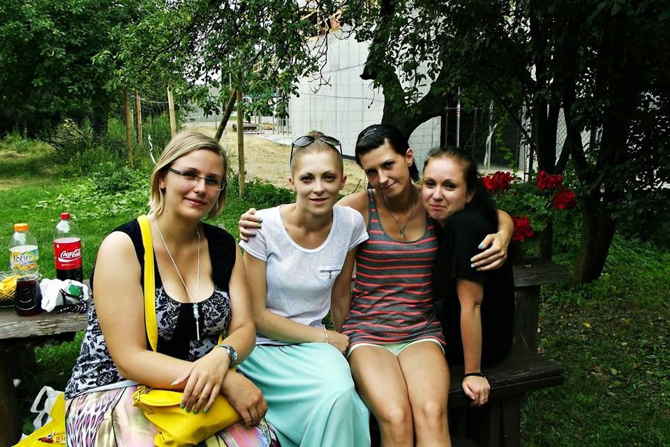 od lewej: ja, Pati, Julka i Asia :)