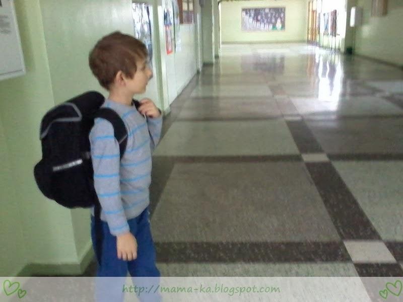 Mały człowiek w wielkiej szkole