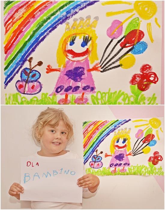 Taki rysunek bardzo chętnie powiesiłabym na ścianie - kolorowy, radosny i... pełen magii :)