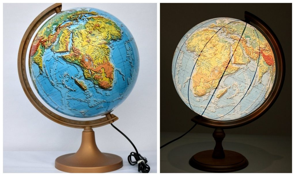 podświetlany globus