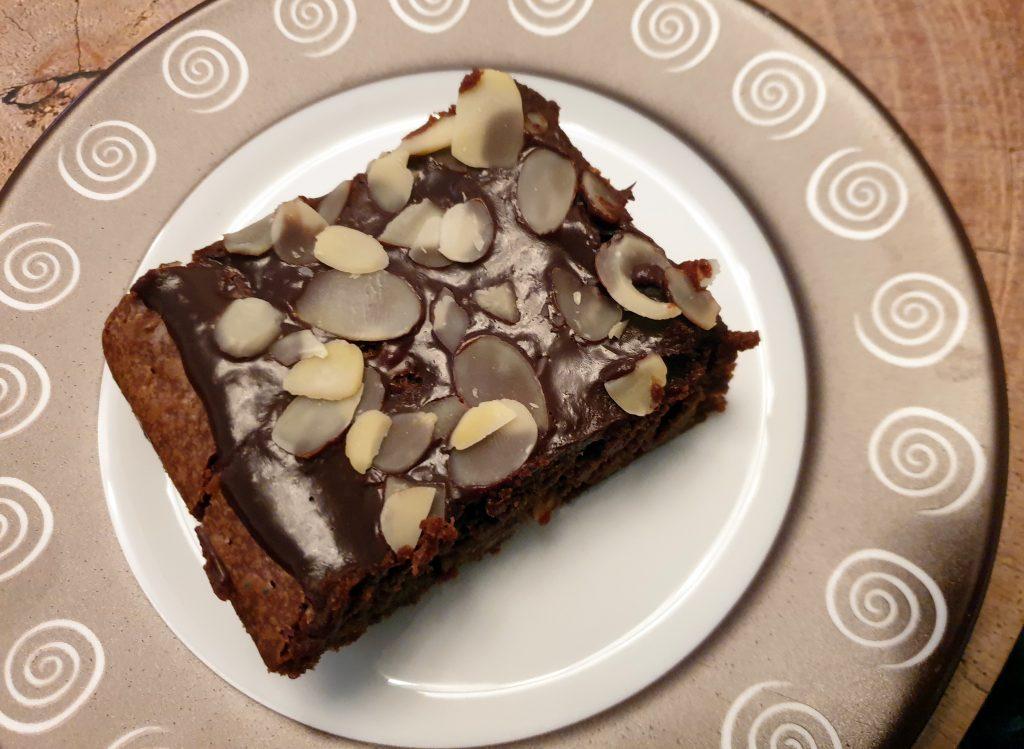 Czekoladowe brownie z migdałami